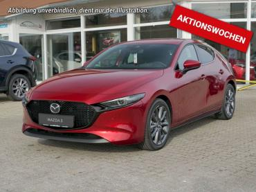 Mazda 3 Selection 122 PS * Automatik * Navi * Abstandstempomat * Magmarot Metallic