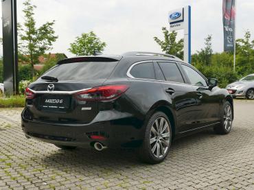 Mazda 6 2019 Sports-Line Plus-Paket Onyxschwarz Heckansicht schräg